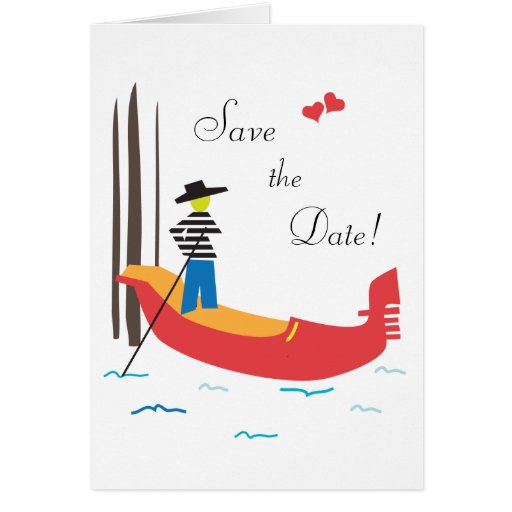 Venice Italy Save the Wedding Date Card