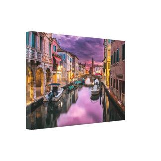 Venice, Italy Scenic Canal & Venetian Architecture Canvas Print