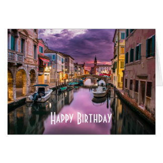 Venice, Italy Scenic Canal & Venetian Architecture Card