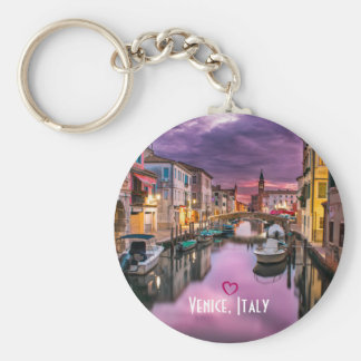 Venice, Italy Scenic Canal & Venetian Architecture Key Ring