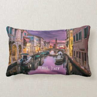 Venice, Italy Scenic Canal & Venetian Architecture Lumbar Pillow