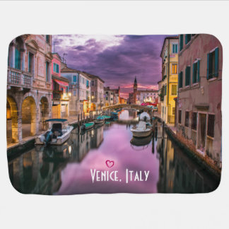 Venice, Italy Scenic Canal & Venetian Architecture Receiving Blankets