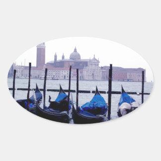 Venice Italy Travel Oval Stickers