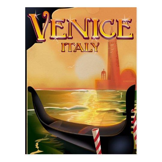 Venice, Italy vintage travel poster Postcard