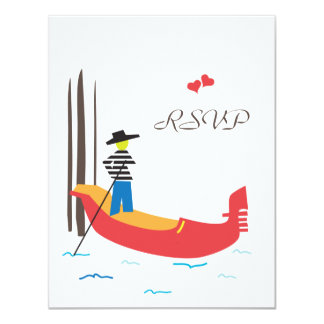 Venice Italy Wedding Response Card 11 Cm X 14 Cm Invitation Card