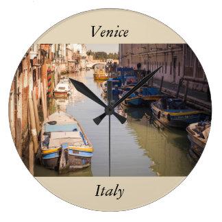 Venice landscape large clock