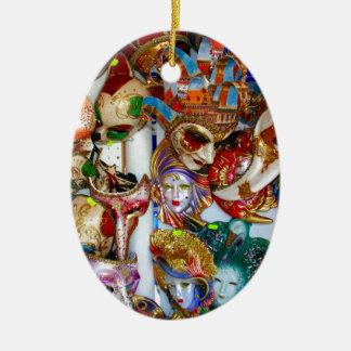 Venice Masks Christmas Ornament