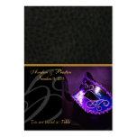 Venice Masquerade Mask Purple Placecard Business Card