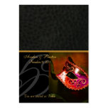 Venice Masquerade Mask Red Placecard Business Card