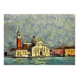 Venice painting 13 cm x 18 cm invitation card