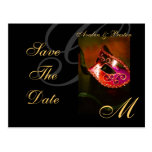 Venice Red Masquerade Mask Save The Date Postcard