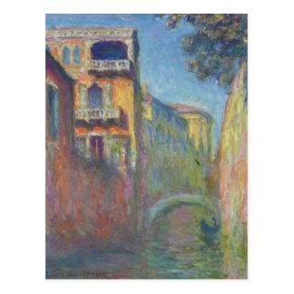 Venice, Rio de Santa Salute by Claude Monet Postcard