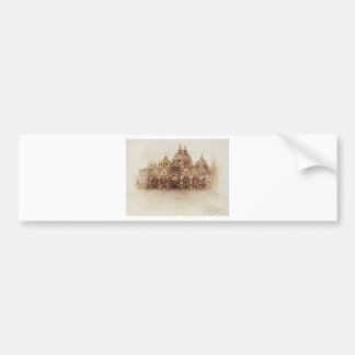 Venice. Saint Mark's Basilica. by Vasily Surikov Bumper Sticker