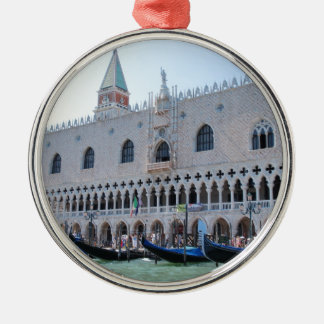 Venice Silver-Colored Round Decoration