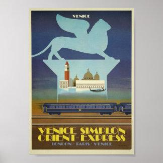 Venice Simplon (Orient Express) Poster