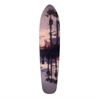 venice skate park purple 2+3 mirror board 21.6 cm skateboard deck