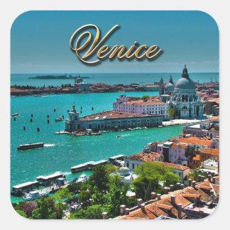 Venice Square Stickers