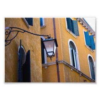 Venice street lamp photo print