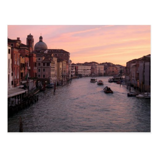 Venice sunrise post card