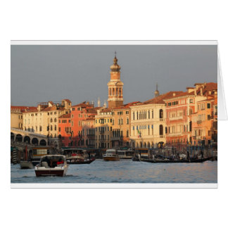 Venice Sunset at the Rialtro Bridge Greeting Card