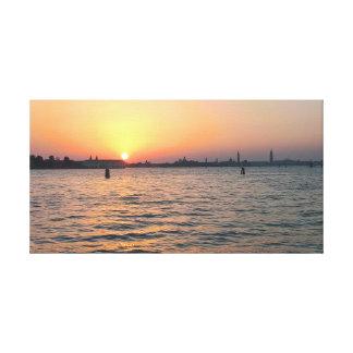 Venice Sunset Canvas Print