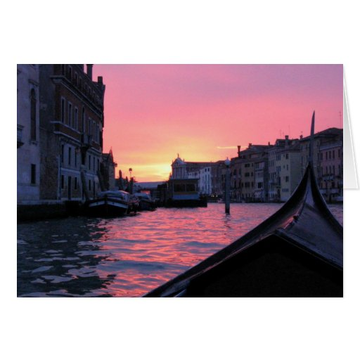 Venice Sunset Greeting Cards