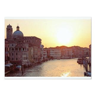 Venice,Sunset on the canal grande 13 Cm X 18 Cm Invitation Card