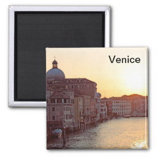 Venice,Sunset on the canal grande Magnet