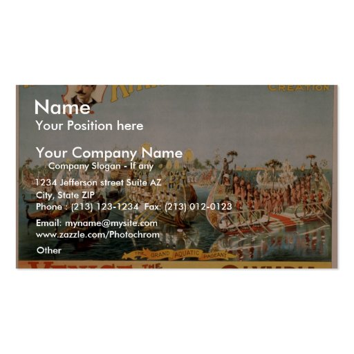 Venice, The Bride of the Sea, 'Olympia' Vintage Th Pack Of Standard Business Cards