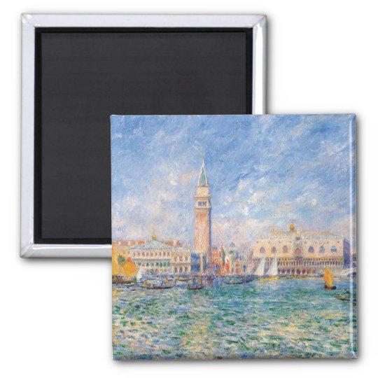 Venice (The Doge's Palace) Pierre-Auguste Renoir Square Magnet