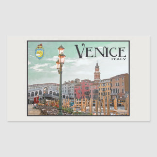 Venice - The Grand Canal Rectangular Stickers