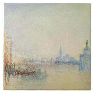 Venice, The Mouth of the Grand Canal, c.1840 (w/c Tile
