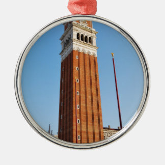 Venice tower Silver-Colored round decoration