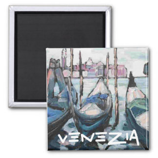 Venice, Venezia Square Magnet