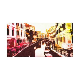 Venice, Venice, Italy panorama Rainbow Popart Canvas Print