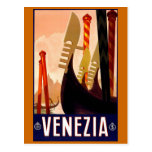 """Venice"" Vintage Italian Travel Poster Post Cards"