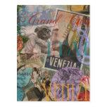 Venice Vintage Trendy Italy Travel Collage Postcards