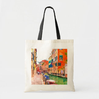 Venice watercolor painting budget tote bag