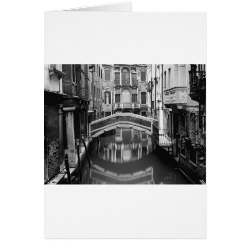 Venice Waterway Black and White Cards