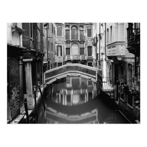 Venice Waterway Black and White Post Cards