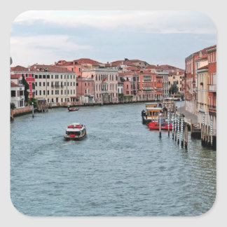 Venice Waterway Square Sticker