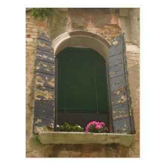 Venice Window Box Postcard