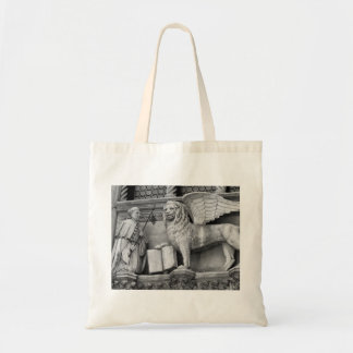 VENICE WINGED LION B/W TOTE BAG