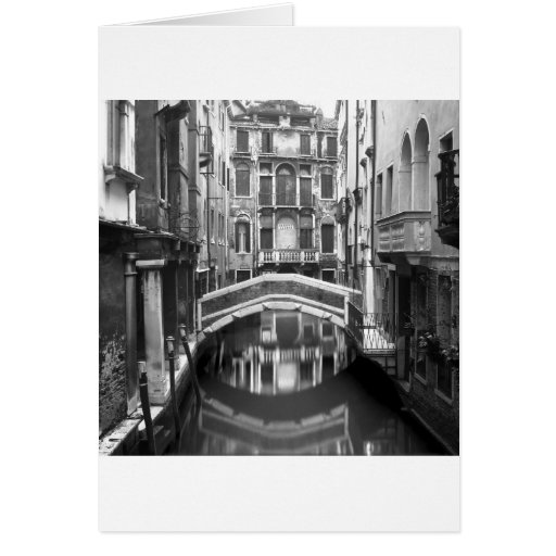 Venician Waterway Greeting Card