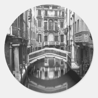 Venician Waterway Round Sticker
