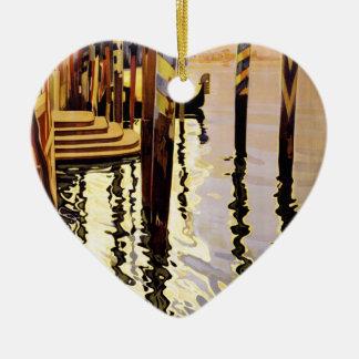 Venise et le Lido Ceramic Heart Decoration