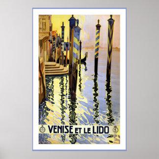 """""""Venise et le Lido"""" Vintage Travel Poster"""