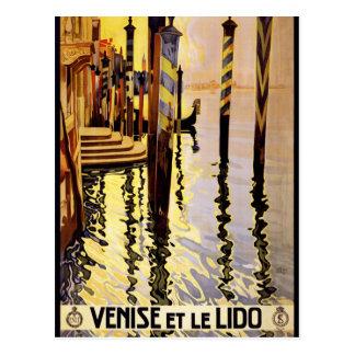 Venise et le Lido Vintage Travel Poster Postcard