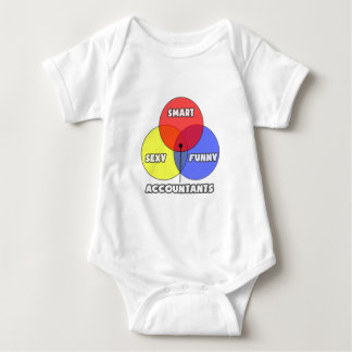 Venn Diagram .. Accountants Baby Bodysuit