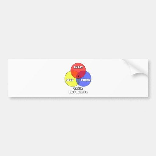 Venn Diagram .. Civil Engineers Bumper Sticker